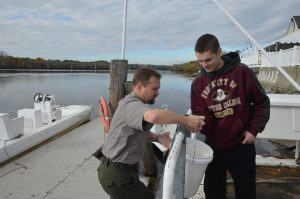 Students worked with the National Park to do water quality testing as part of their study of the current day Merrimack River.