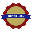 "Badge and banner, text reads ""Honor Roll"""